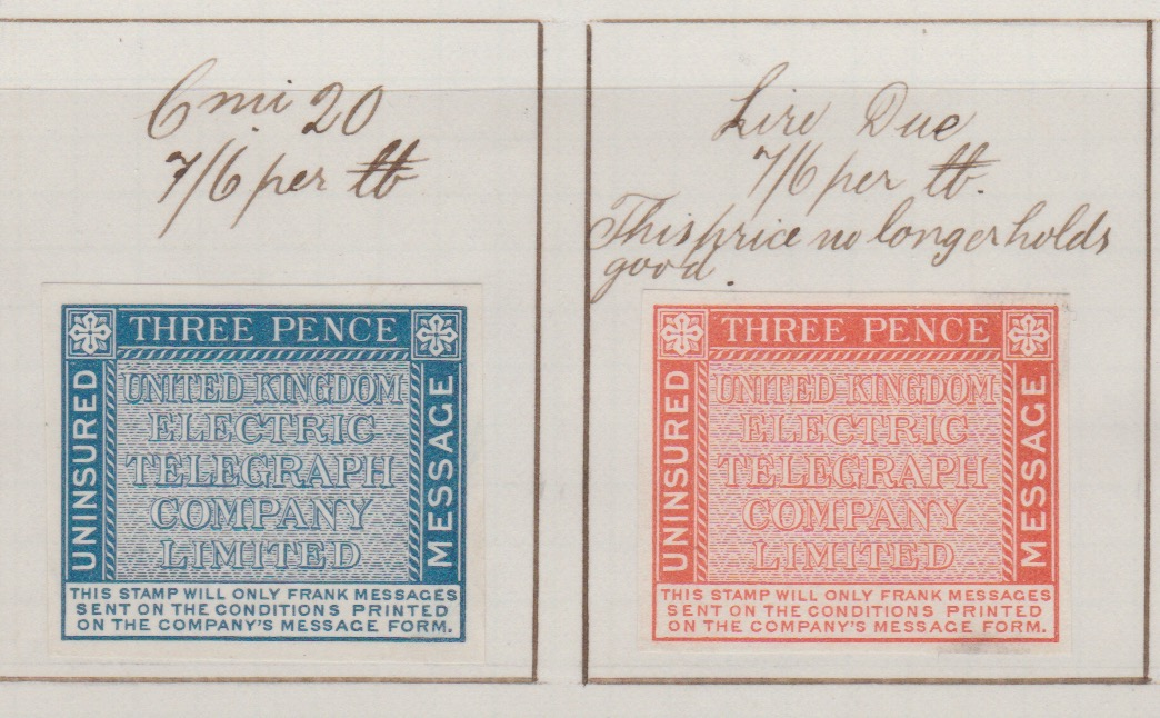 Italy / G.B. - Telegraph Stamps 1874 (May 20) - Image 2 of 2