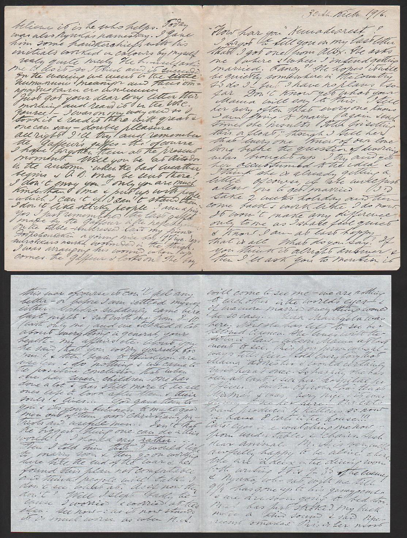 Royalty Grand Duchess Olga Correspondence To Her Sister Grand Duchess Xenia 1916-1920 - Image 21 of 47