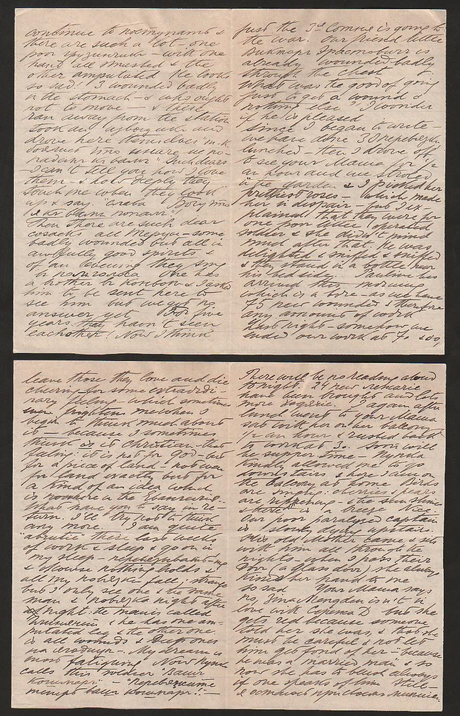 Royalty Grand Duchess Olga Correspondence To Her Sister Grand Duchess Xenia 1916-1920 - Image 38 of 47