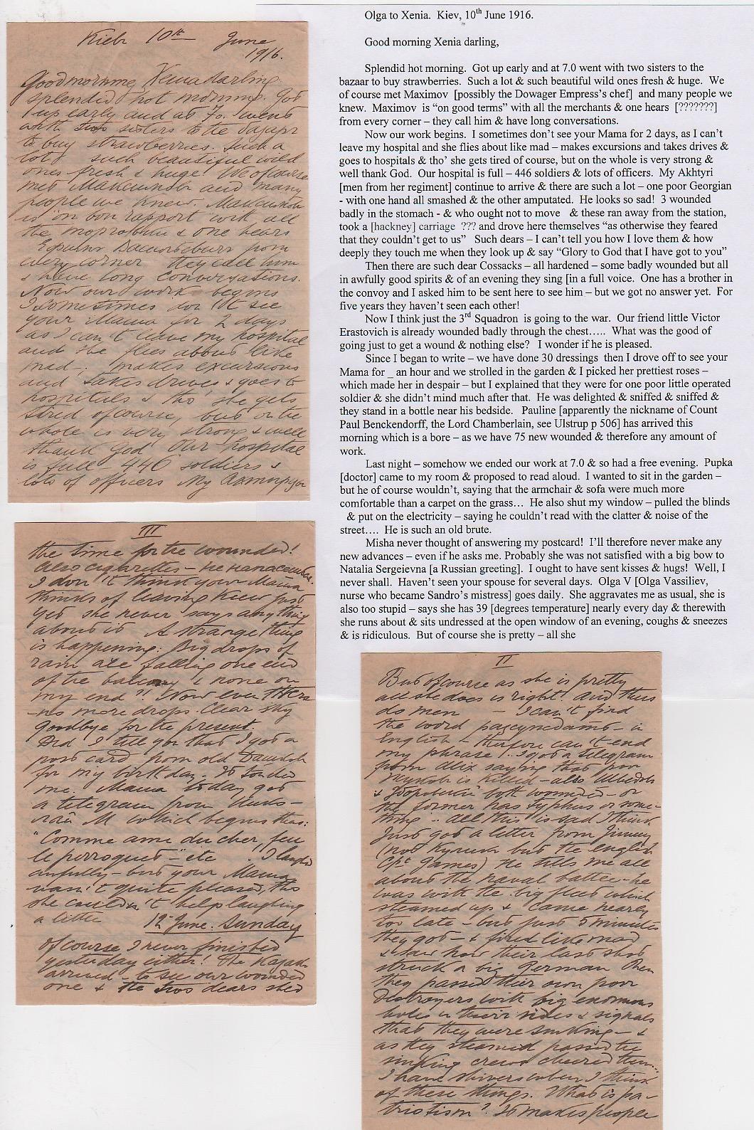 Royalty Grand Duchess Olga Correspondence To Her Sister Grand Duchess Xenia 1916-1920 - Image 40 of 47