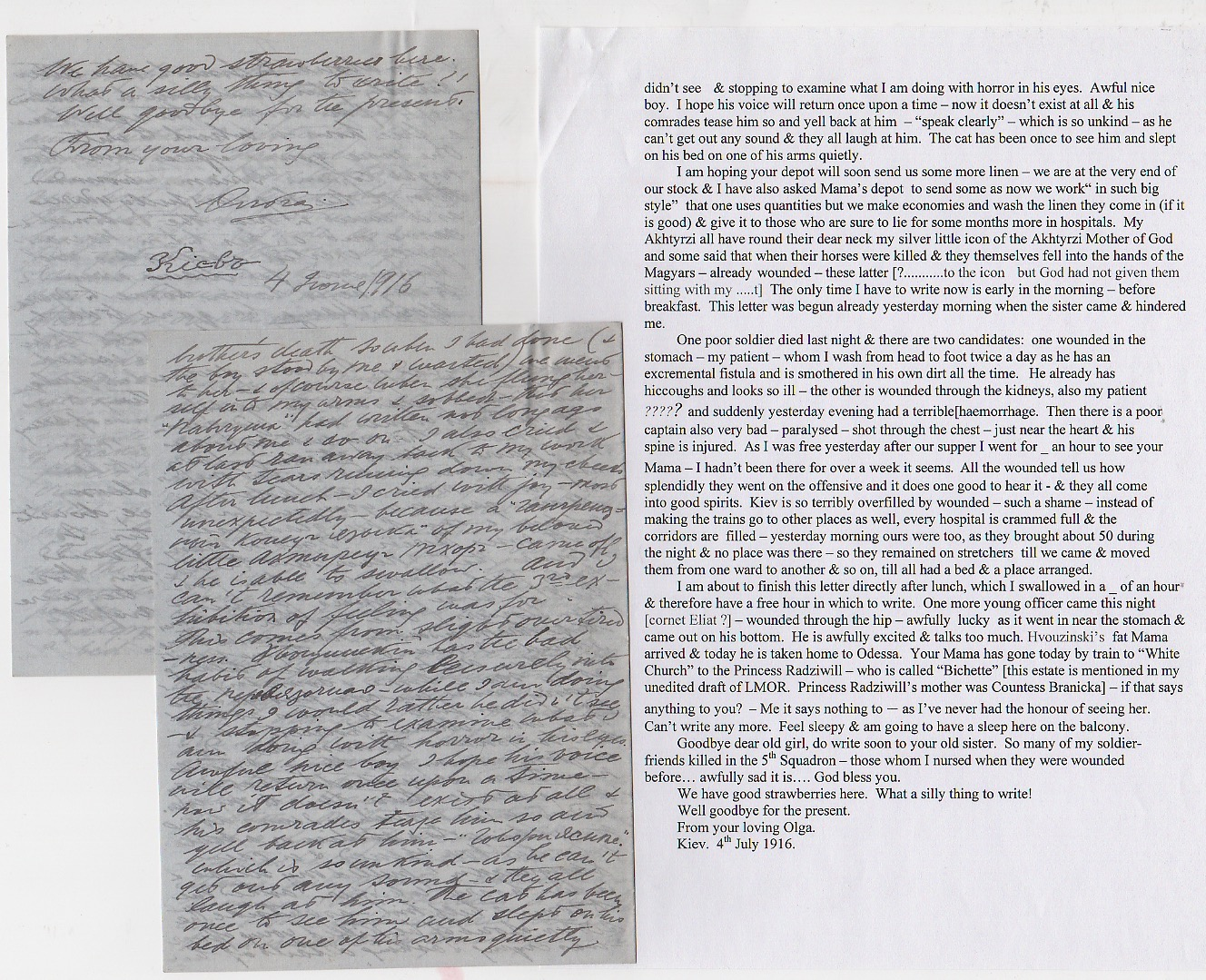 Royalty Grand Duchess Olga Correspondence To Her Sister Grand Duchess Xenia 1916-1920 - Image 31 of 47