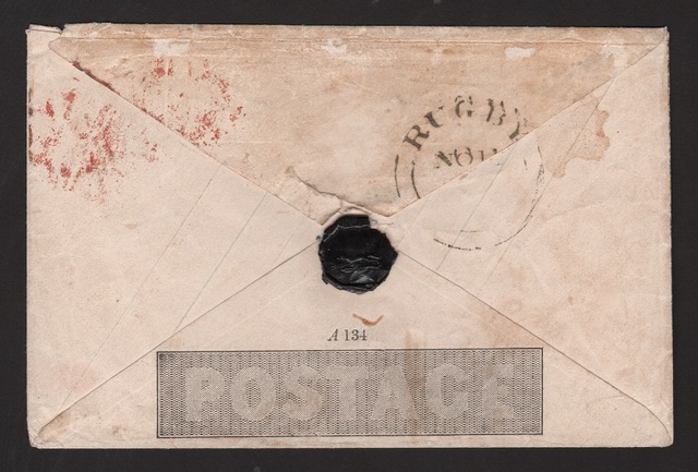 G.B. - MULREADY 1d ENVELOPE A HITHERTO UNRECORDED MAJOR VARIETY 1840. 1d envelope, stereo A134, var - Image 3 of 4