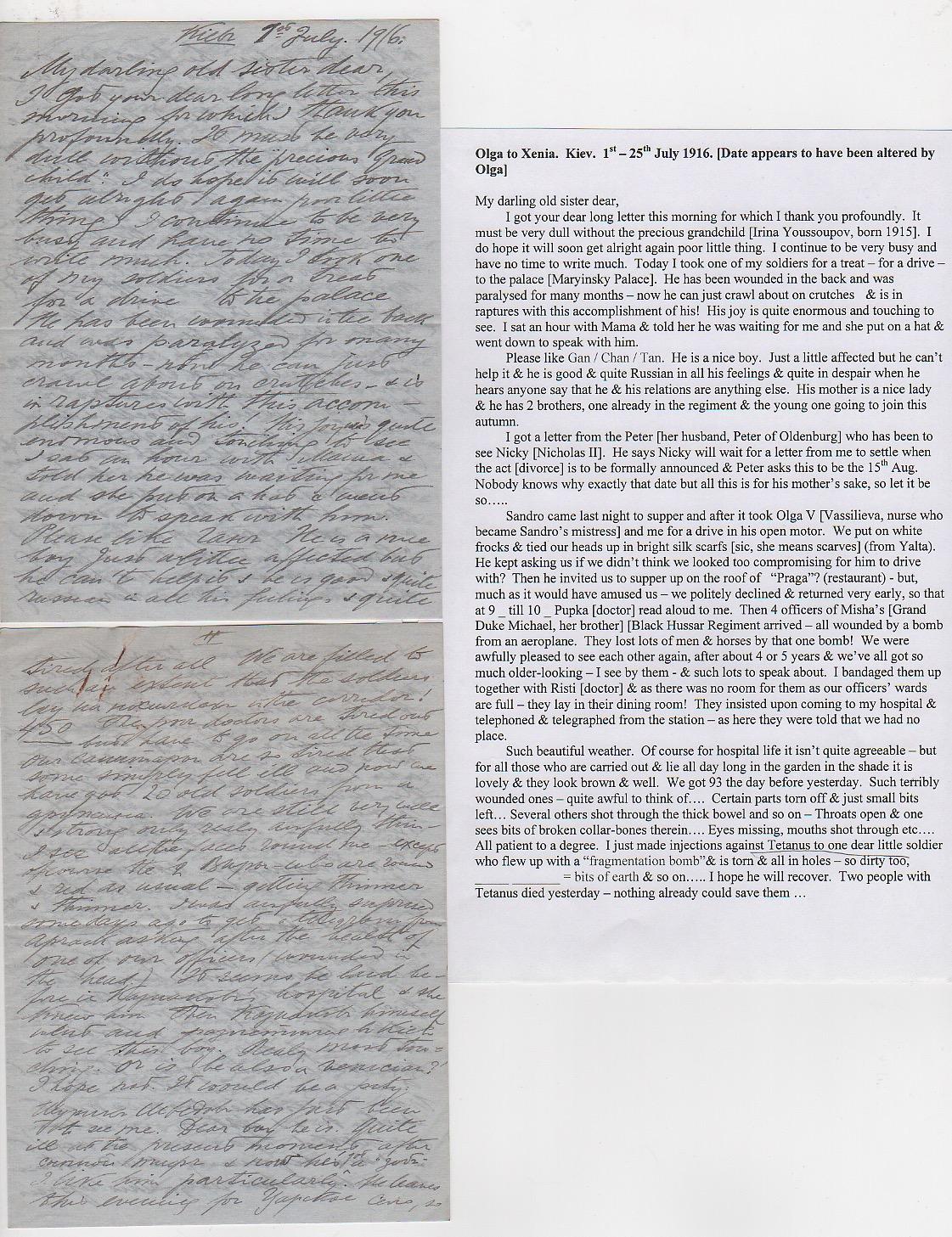 Royalty Grand Duchess Olga Correspondence To Her Sister Grand Duchess Xenia 1916-1920 - Image 30 of 47