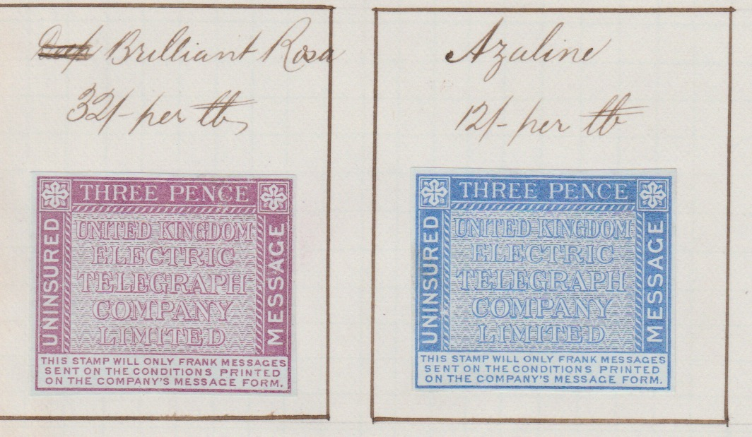 G.B - Telegraph Stamps / Surface Printed 1874 (May 20) - Image 2 of 2