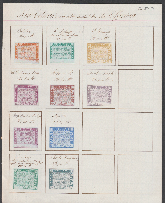G.B - Telegraph Stamps / Surface Printed 1874 (May 20)