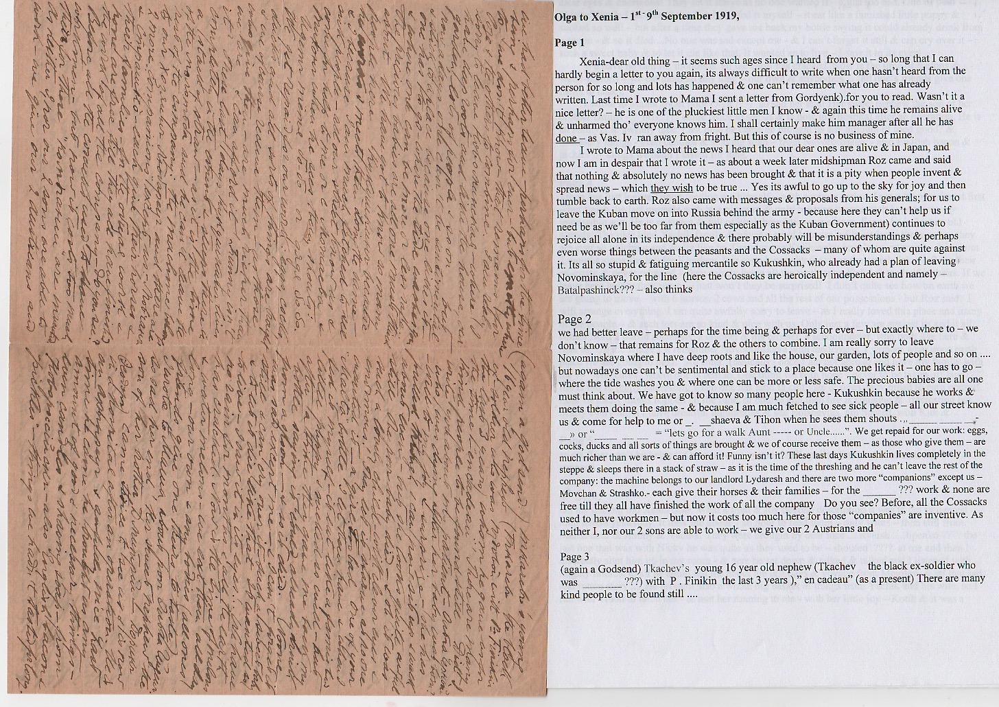 Royalty Grand Duchess Olga Correspondence To Her Sister Grand Duchess Xenia 1916-1920 - Image 9 of 47