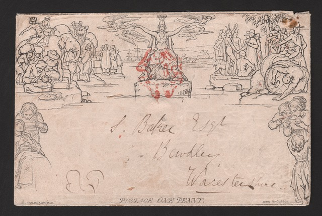 G.B. - MULREADY 1d ENVELOPE A HITHERTO UNRECORDED MAJOR VARIETY 1840. 1d envelope, stereo A134, var