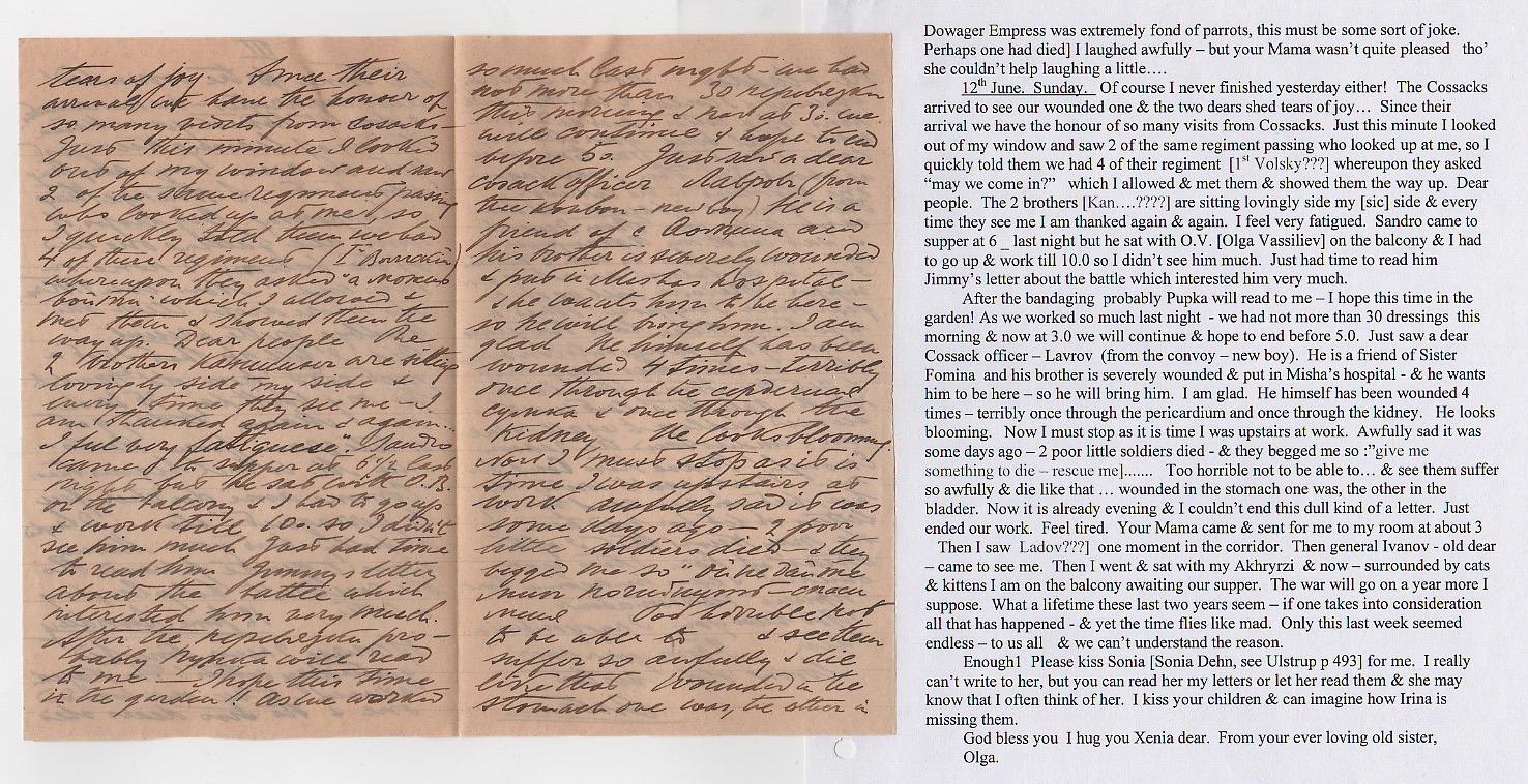 Royalty Grand Duchess Olga Correspondence To Her Sister Grand Duchess Xenia 1916-1920 - Image 37 of 47