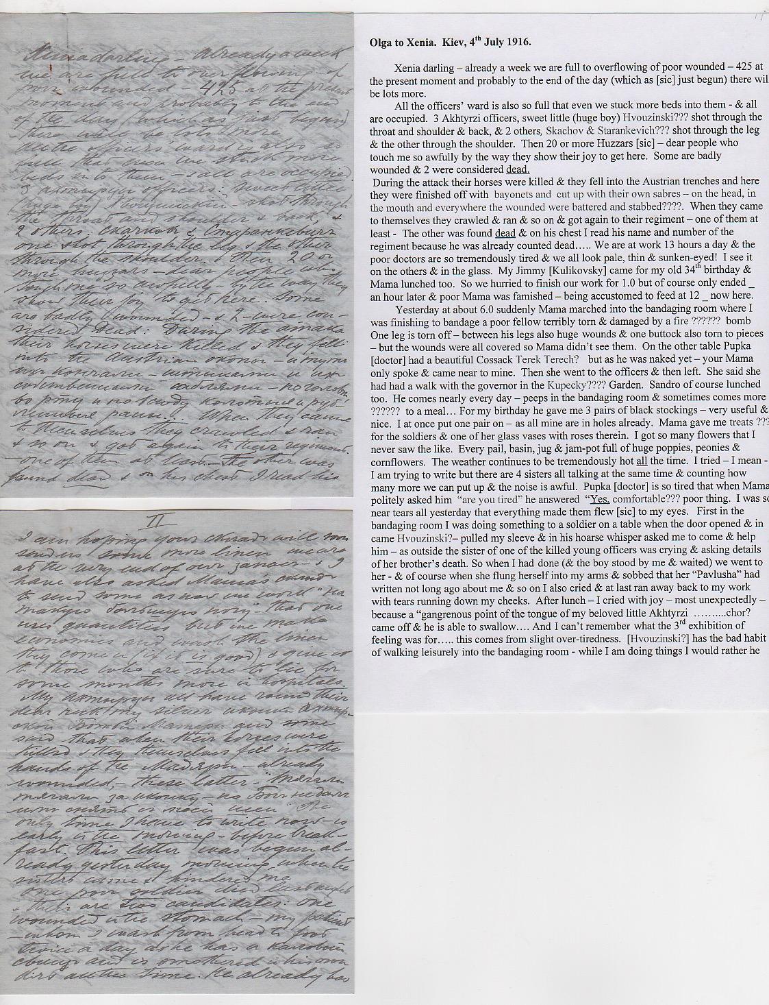 Royalty Grand Duchess Olga Correspondence To Her Sister Grand Duchess Xenia 1916-1920 - Image 33 of 47