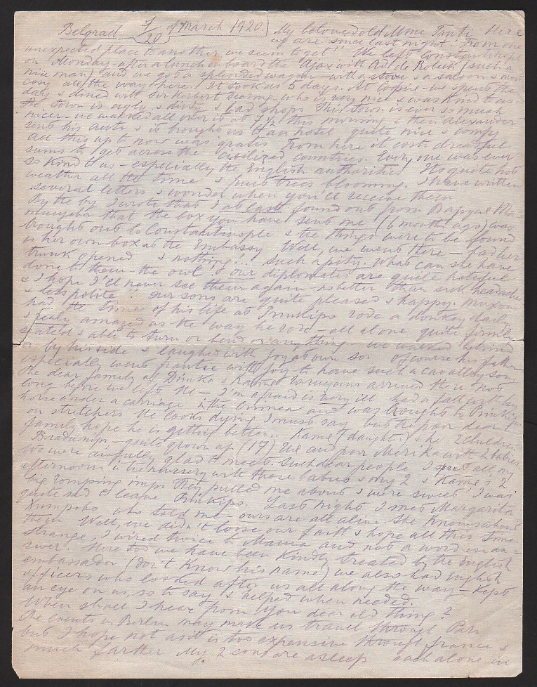 Royalty Grand Duchess Olga Correspondence To Her Sister Grand Duchess Xenia 1916-1920 - Image 4 of 47