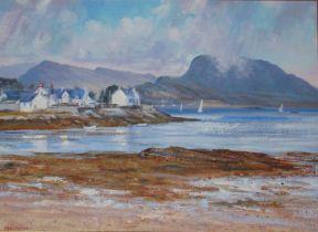 "Peter M. Mackenna. ""Passing Showers"" Plockton, Scotland. Oil on Canvas"
