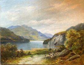 Large oil on canvas Scottish view Indistinct signature