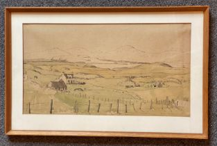 Tom Hovell Shanks RSW RGI PAI Signed watercolour Borrodale Loch Scotland