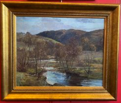 Joseph Morris Henderson RSA (1863-1936) Scottish landscape oil painting