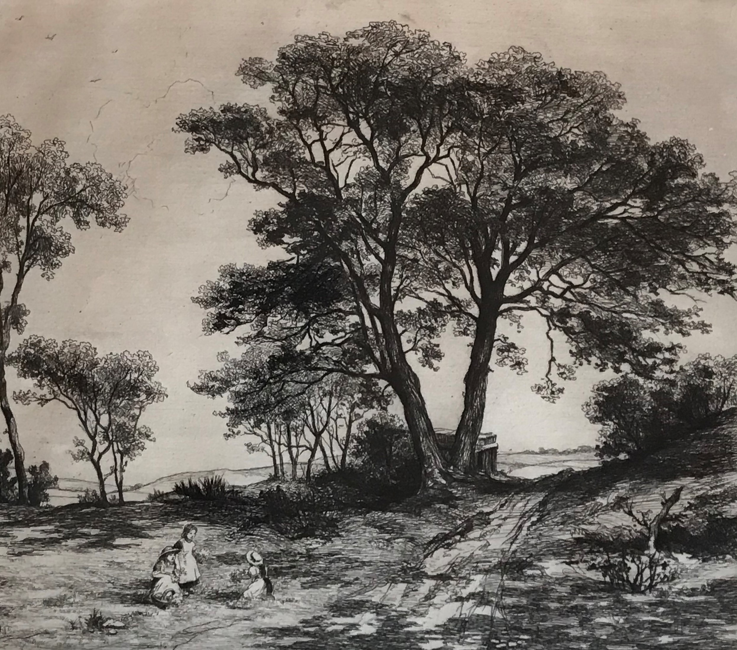 Andrew Allan (1863-1940) pencil signed etching The Picnic - Image 2 of 4