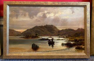 "Robert Cree Crawford Scottish R.S.W oil painting ""The Fishermen"""