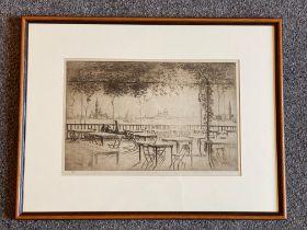 William Douglas Macleod 1892-1963 (Scottish) signed etching Venice evening