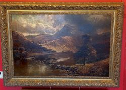 Large Henry Clarence Roe oil painting depicting a Welsh view