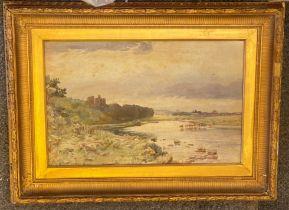 John Blair 1850-1934 (Scottish) Signed watercolour Cattle at a river's edge