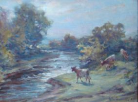 Hector Chalmers Signed Oil Painting Mounted Framed