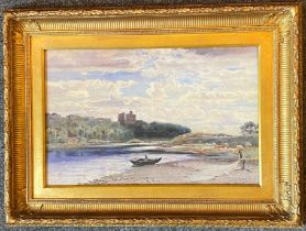 John Blair 1850-1934 Signed watercolour Sorting the Nets