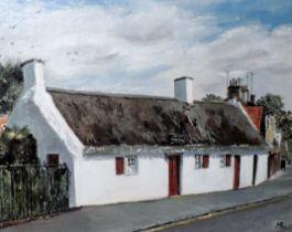 Robert Burns Cottage Alloway. Oil on Board Signed by Maji Bremner