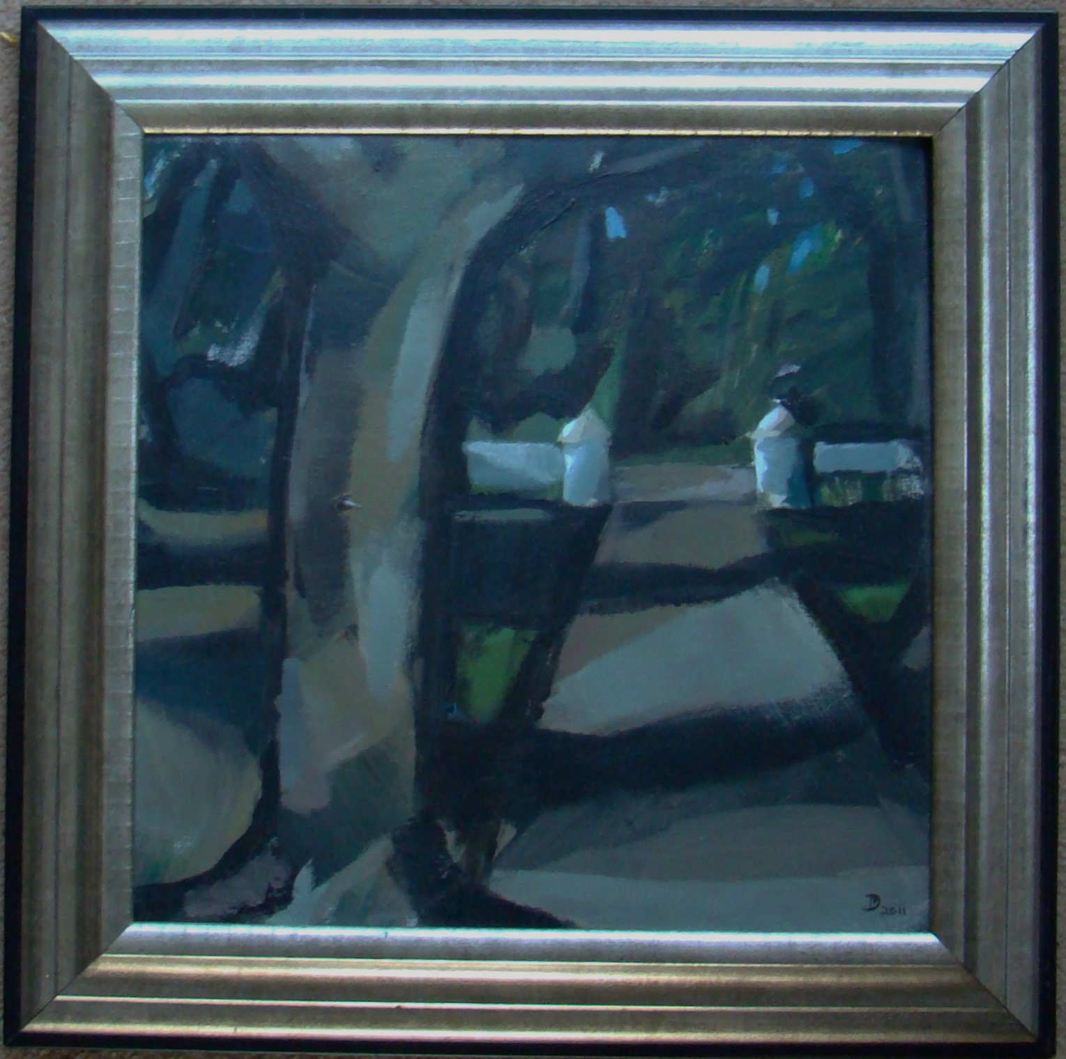 Donnie Munro Scottish Artist Signed & Framed Oil & Acrylic. Low Light Scorrybreac - Image 2 of 6