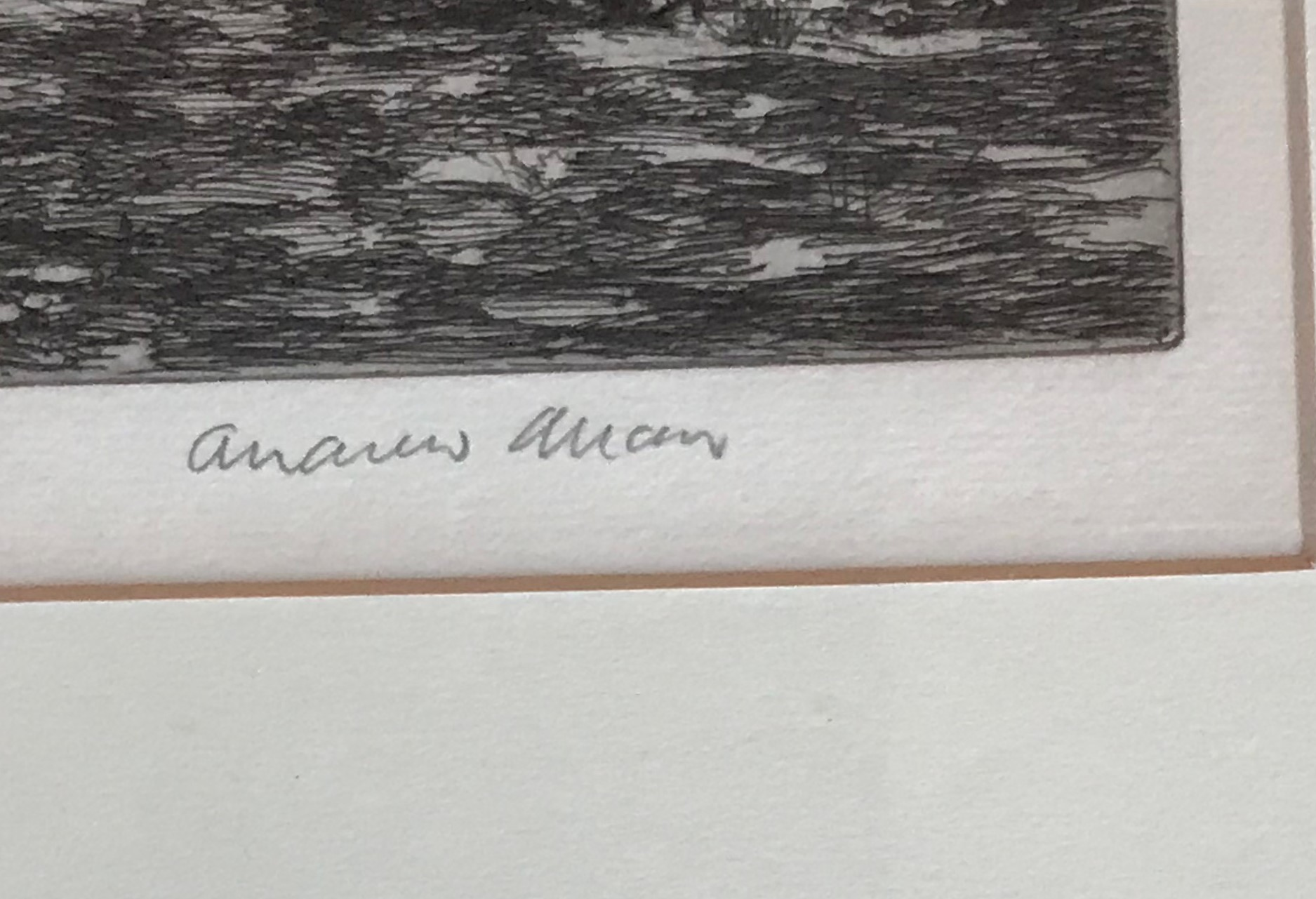 Andrew Allan (1863-1940) pencil signed etching The Picnic - Image 3 of 4