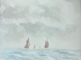 Watercolour. Seascape by Roger W. Gibson