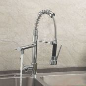 New Bentley Modern Monobloc Chrome Brass Pull Out Spray Mixer Tap. RRP £349.99. This tap is fr...