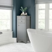 New (Y63) Lucia 465mm Tall Boy Unit In Grey Ash. A Truly Transitional Range Which Seamlessly ...