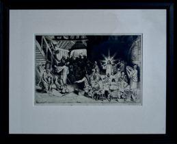 WILLIAM STRANG RA RP RE (SCOTTISH 1859-1921), Untitled, signed Etching