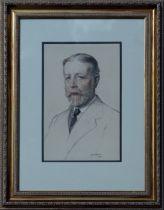 JAMES PATERSON RSA RSW (SCOTTISH 1854-1932), Portrait of J Cook 18 India Street, signed Conté