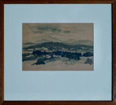 MARY ARMOUR RSA RSW RGI (SCOTTISH 190 -2000), Ben Lomond from Arn Prior, signed Ink & Wash Study