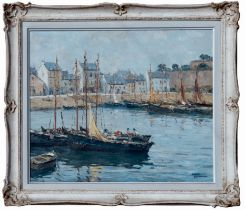 ANDRÉ BERONNEAU (French 1896-1973), Belle Isle, signed Oil Painting
