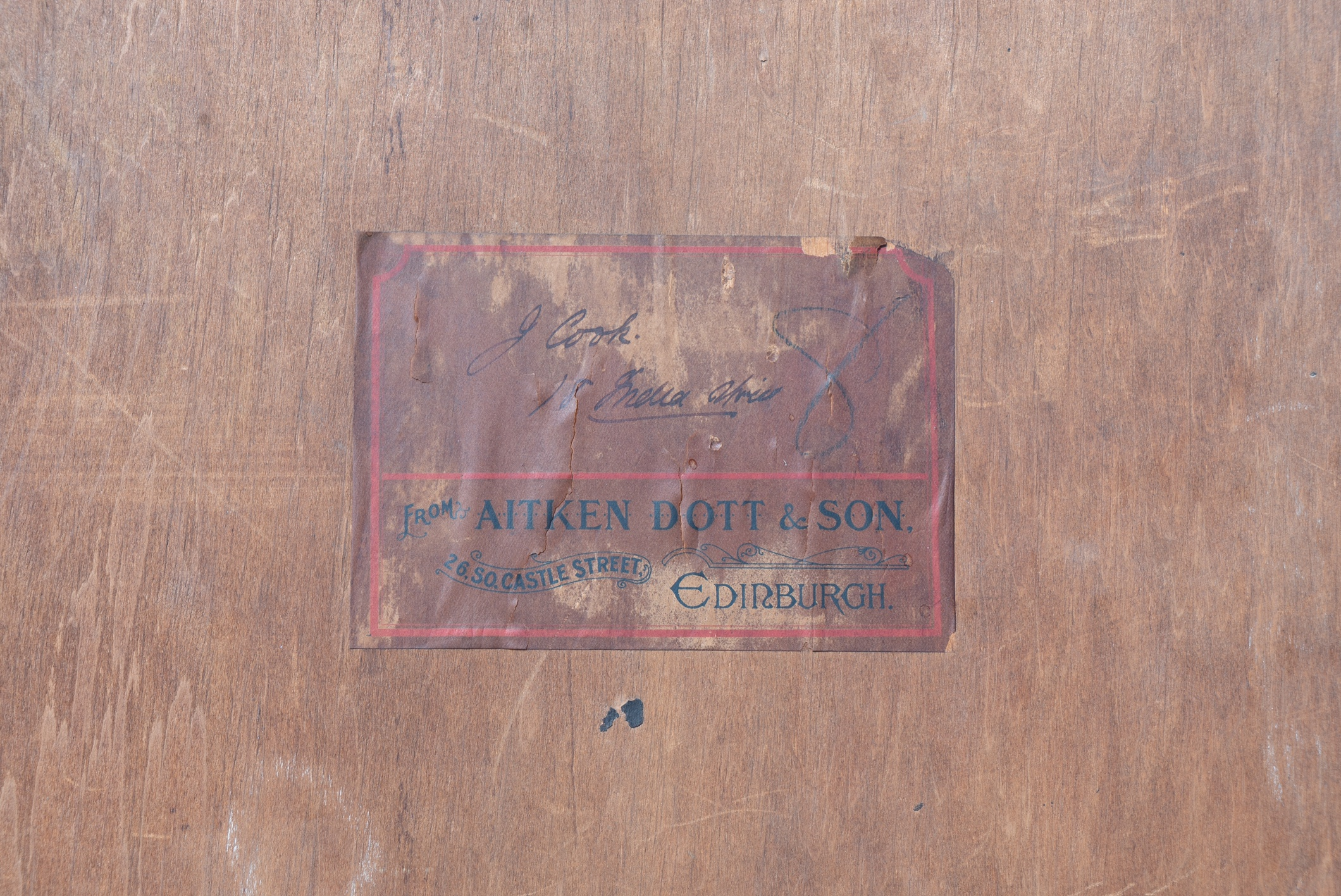 JAMES PATERSON RSA RSW (SCOTTISH 1854-1932), Portrait of J Cook 18 India Street, signed Conté - Image 3 of 4
