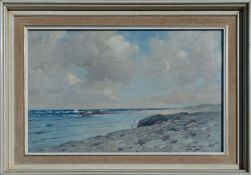 ROBERT RUSSELL MACNEE (SCOTTISH 1880 - 1952), Port Mhor Bay Tiree, signed Oil Painting
