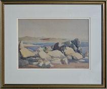 D Y CAMERON RA RSA (SCOTTISH 1865 - 1945), Coastal Inlet, Water Colour Painting