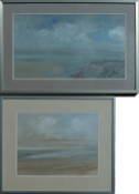 HUGH MCINTYRE (SCOTTISH b.1943), Solway Firth, Mixed Media Painting and One other (2)