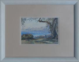 MONOGRAMMED, Coastal Landscape, Watercolour