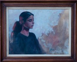 GAVIN SALT, Portrait of a Seated Girl, signed Oil Painting