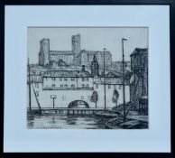 W Y MACGREGOR RSA (SCOTTISH 1855-1921), Lincoln, signed Charcoal Drawing