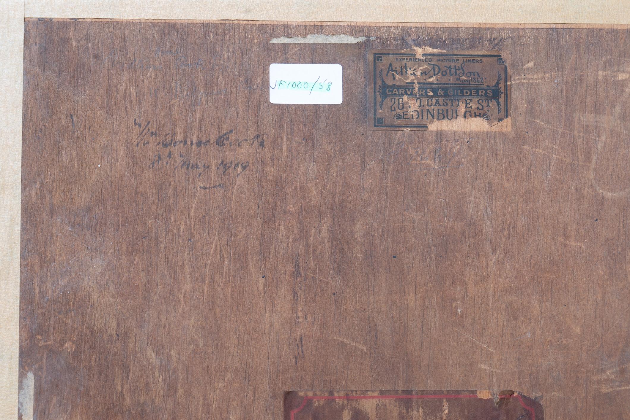 JAMES PATERSON RSA RSW (SCOTTISH 1854-1932), Portrait of J Cook 18 India Street, signed Conté - Image 4 of 4