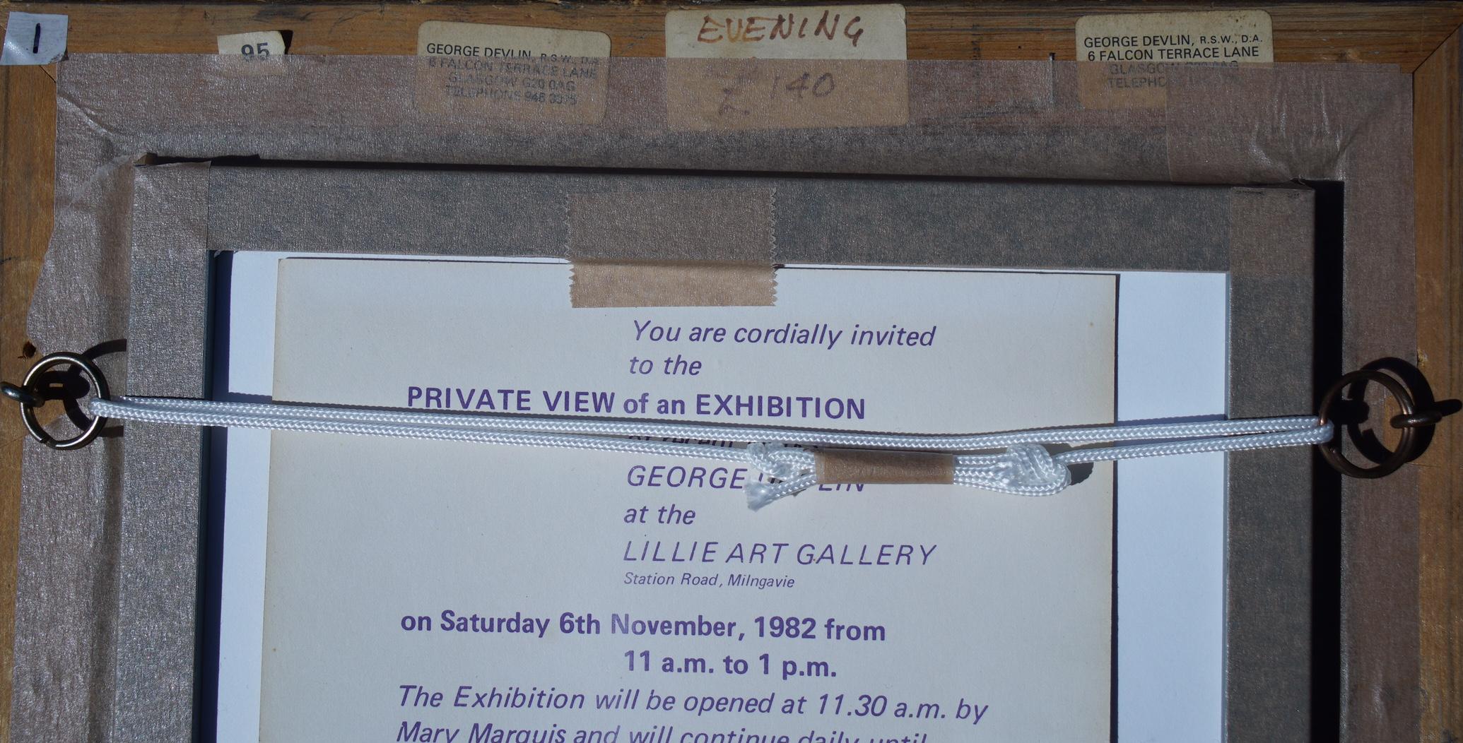 GEORGE DEVLIN RSW RGI FRSA (SCOTTISH 1937 - 2014), Evening, Signed Oil Painting - Image 2 of 2