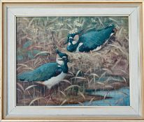 RALSTON GUDGEON RSW (SCOTTISH 1910-1984), Lapwings, signed Oil Painting