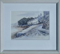 DOROTHY BRUCE GSWA PAI (US/SCOTTISH 20th Century), Ferry Row Fairlie, signed Watercolour Painting
