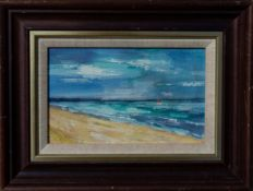 UNKNOW ARTIST, Red Sail, small Oil Painting