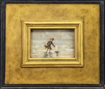 SCOTTISH SCHOOL (19th/20th Century), By the Sea, unsigned Oil Painting