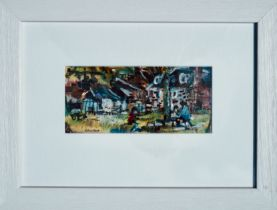 HAMISH LAWRIE (SCOTTISH 1919-1987), Playground, signed Oil Pastel