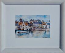 SHIELA R MCDONALD (SCOTTISH), Tranquil Harbour, Signed Watercolour